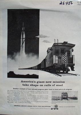 Assn. American Railroads Rails of Steel Ad 1959