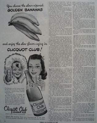 Cliquot Club Ginger Ale Flavor Aging Ad 1944