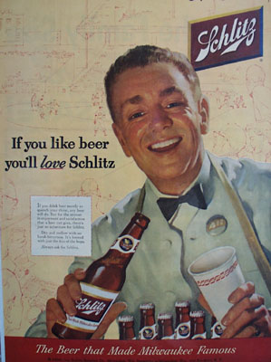 Schlitz Beer If You Like Beer Ad 1954