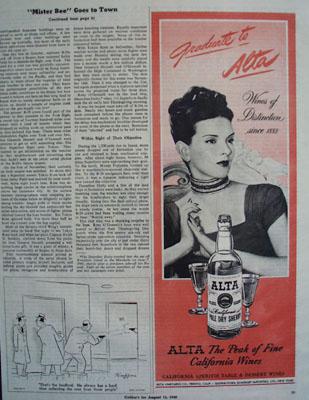Alta Wine Graduate to Alta Ad 1945