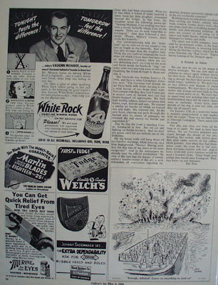 White Rock Sparkling Water and Vaughn Monroe Ad 1944