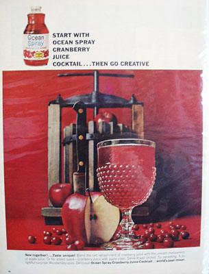 Ocean Spray Cranberry Juice Go Creative Ad 1964
