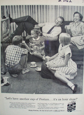 Postum Lets Have Another Cup Ad 1957