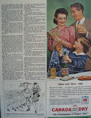 Canada Dry Share and Share Alike Ad 1945