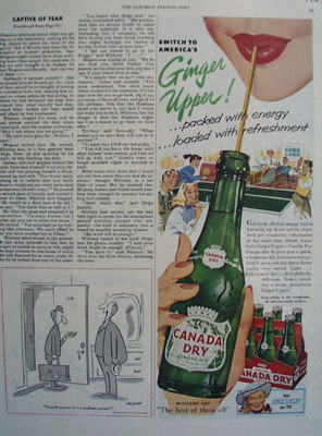 Canada Dry and Ginger Upper Ad 1954
