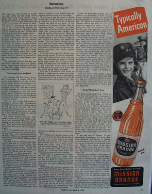 Mission Orange Typically American Ad 1944