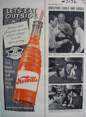 Nesbitts Orange Drink Eat Outside Ad 1957