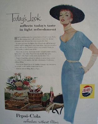 Pepsi Cola Todays Look Ad 1954