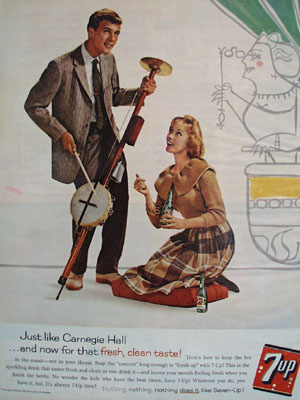 Seven Up And Carnegie Hall Ad 1960