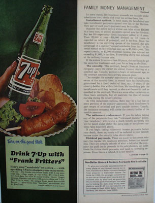 Seven Up And FrankFritters Ad 1965