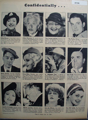 Confidentially Twelve Famous People Pictures 1938