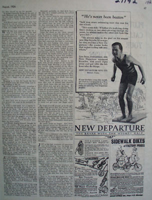 New Departure Bicycle Brake Never Beaten Ad 1926