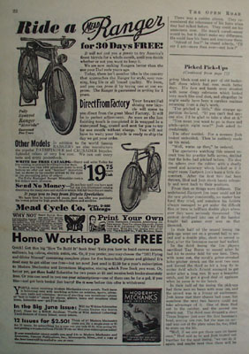 Mead Cycle Ride A Ranger Ad 1931