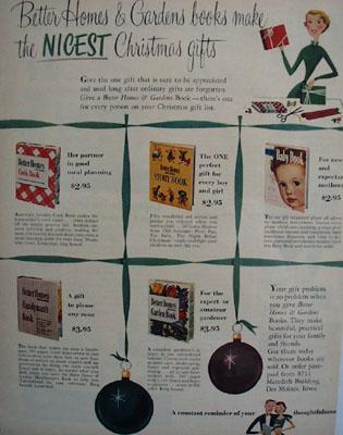 Home and Gardens Books Christmas Ad 1951