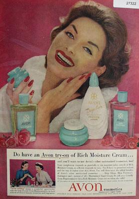 Avon Cosmetics Ad 1958