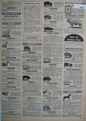 Prairie Farmer Page Of Farm Ads 1960