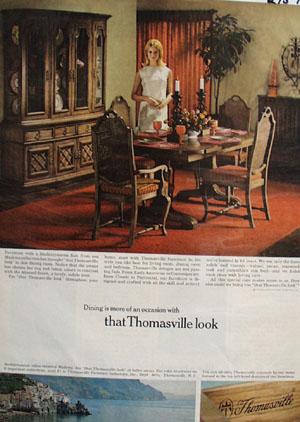 Pleasing Thomasville Furniture Dining Room Madeira Ad 1967 Download Free Architecture Designs Madebymaigaardcom
