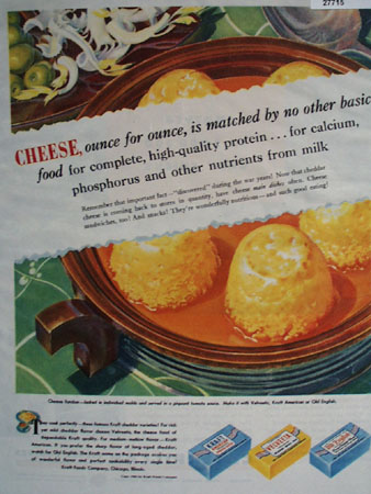 Kraft Foods High Quality Protein Ad 1945