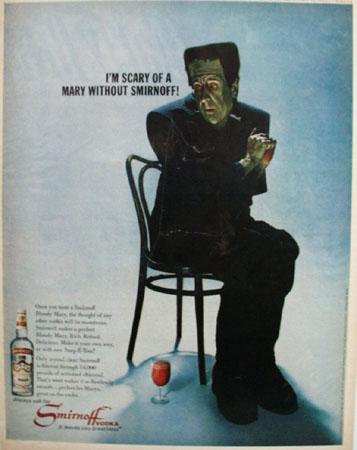 Smirnoff Vodka And The Frankenstein Ad 1967