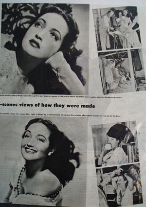 Dorothy Lamour And Glamour Article and Pictures 1945