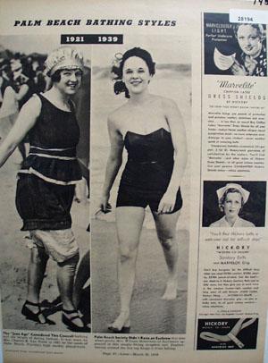 Bathing Styles Mrs Van Vleek And Mrs Robertson Article 1939