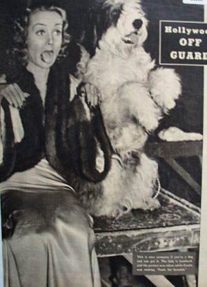 Carole Lombard and Dog 1938