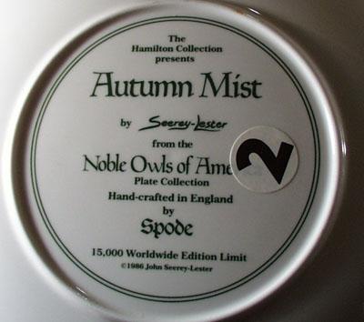 Spode Plate Autumn Mist