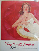 Revlon Say It With Rubies Ad 1956