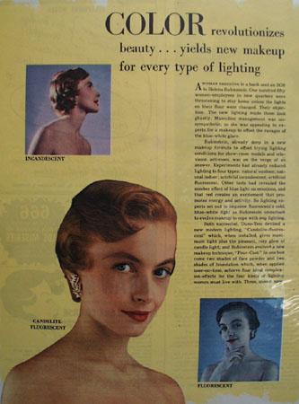 Helena Rubinstein Color Revolutionizes Beauty Ad 1949