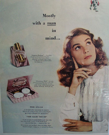 Max Factor Christmas Ad 1951