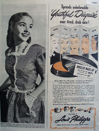 Louis Philippe Make Up Youthful Disguise Ad 1945