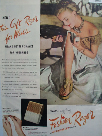 Eversharp Schick Gift Razor For Wives Ad 1948