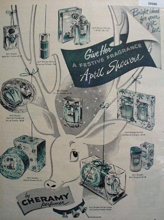 Cheramy Perfume April Showers Ad 1951