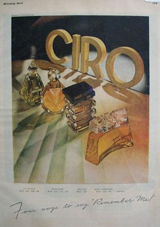 Ciro Perfumes Four Ways Remember Me Ad 1947