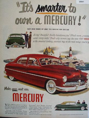 Mercury Car 1949 Ad