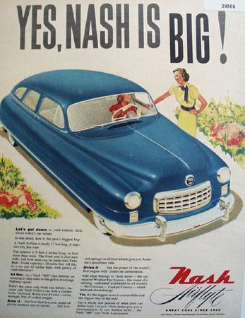 Nash Airstyle Car 1949 Ad