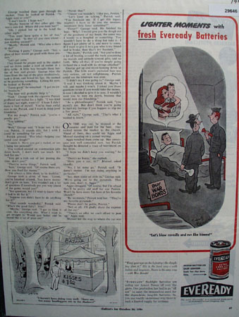 National Carbon Eveready Battery 1944 Ad