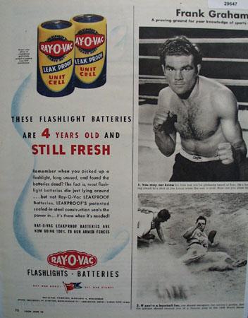 Ray O Vac Batteries 1944 Ad