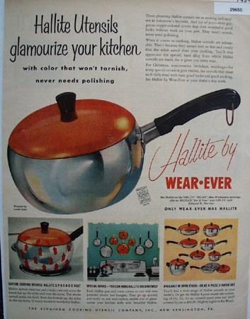 Hallite Utensils by Wear Ever 1954 Ad