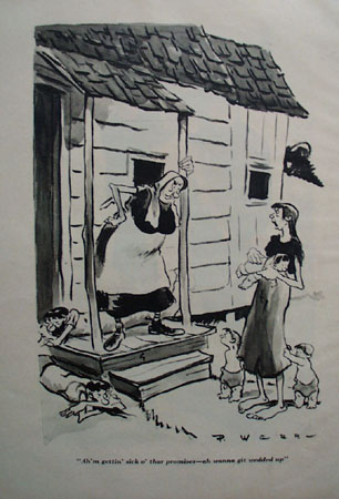 Cartoon By P Webb Wants To Be Married 1948