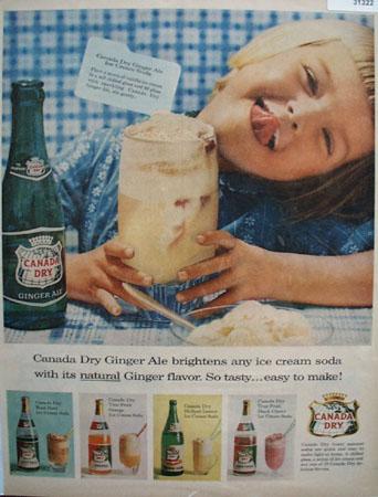 Canada Dry Frosty summer Sodas 1952 Ad