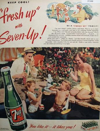 7 UP Keep Cool 1949 Ad