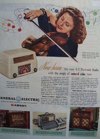 General Electric Evelyn and her Magic Violin 19446 Ad