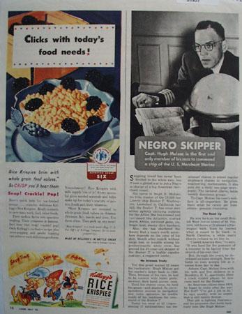Kelloggs Rice Krispies Todays Food Needs Ad 1943