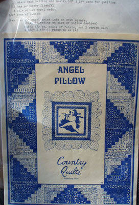 Angel Pillow Pattern by Country Quilts 20th Century