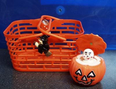 Modern Halloween Collectible Basket and Popup