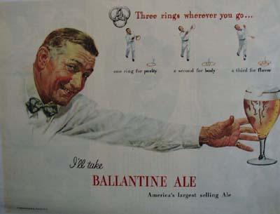 Ballantine Ale  I Will take Ballantine Ale Ad 1947