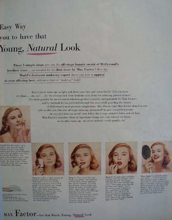 Joan Evans and Max Factor Make Up Ad 1951