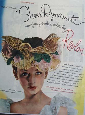 Revlon Sheer Dynamite Face Powder Ad 1945