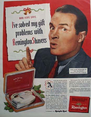 Remington Electric Shaver Bob Hope 1948 Ad